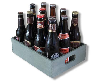 Beer crate with 12 abbey beers