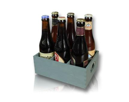 Beer crate with 6 abbey beers