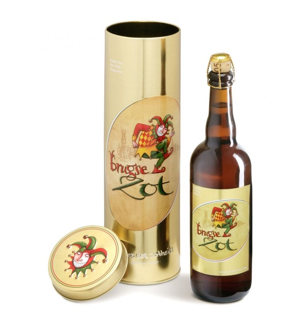 Bottle of Brugse Zot blond Belgian speciality beer