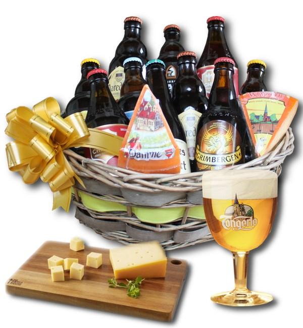 Belgian Beer and cheeses basket