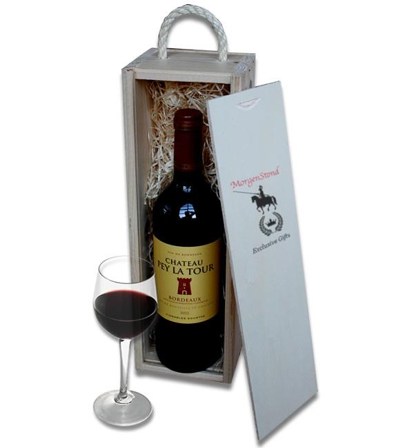 Bordeaux Ch�teau Pey La Tour in a wooden crate