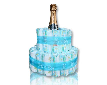 Diaper Cake-It's a Boy-with French Champagne