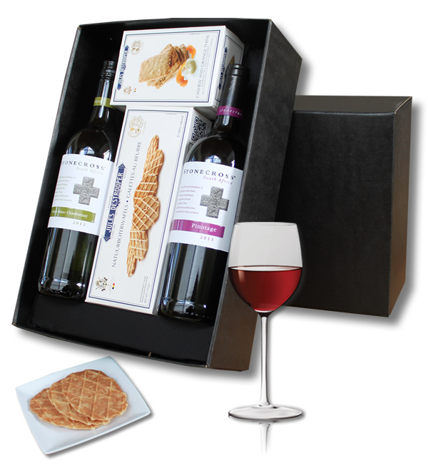 Luxury Winebox Stonecross White and Red and Jules Destroopere