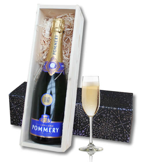 Champagne (75cl) Pommery in wooden crate