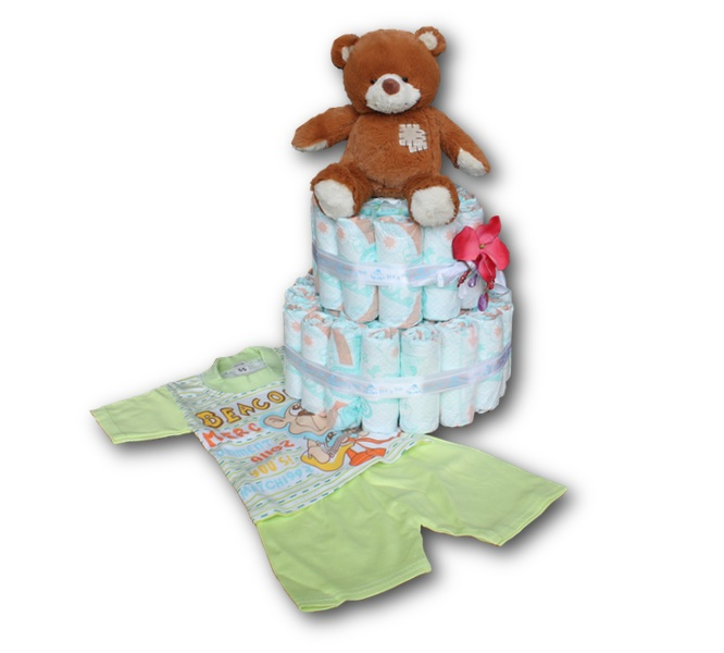 Diaper Cake - It's a Boy - with T-shirt and short