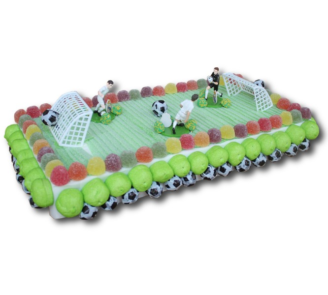 Giant candy soccer field