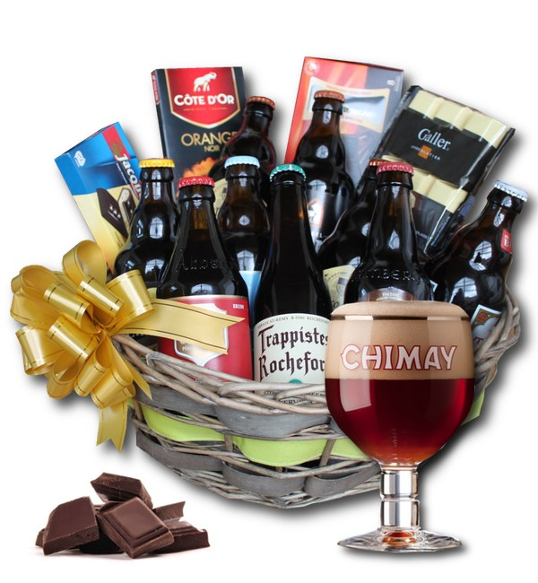 Belgian Beer and chocolates basket