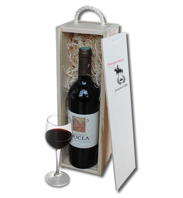 Bordeaux Ch�teau Ducla in wooden crate