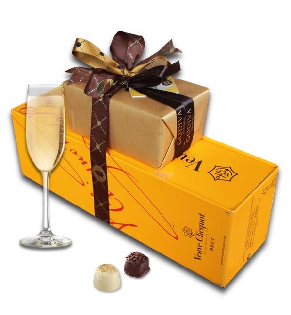 Godiva Chocolates and Veuve Clicquot Champagne