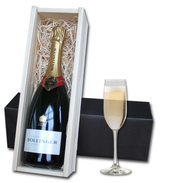Bollinger Champagne (75cl) in wooden crate
