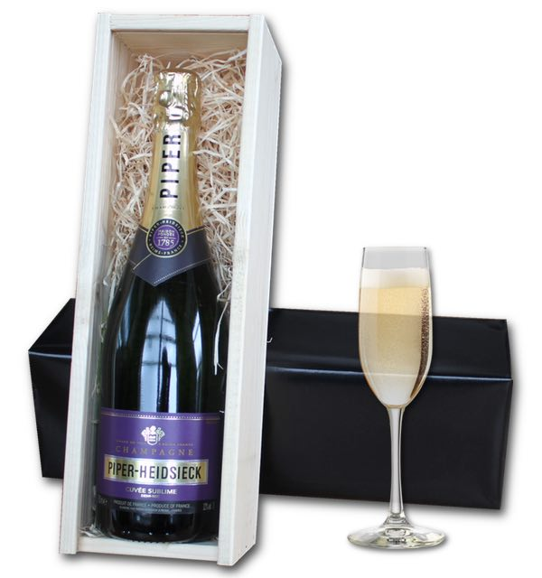 Piper Heidsieck Champagne (75cl) in wooden crate