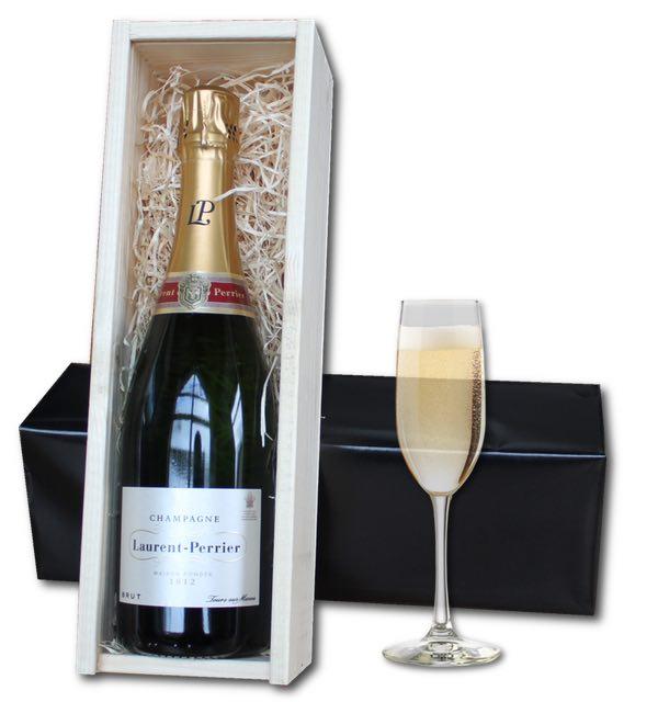 Laurent Perrier Champagne (75cl) in woorden crate