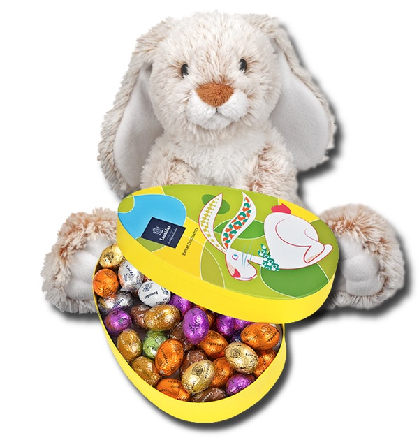 Leonidas Easter box with Easter bunny